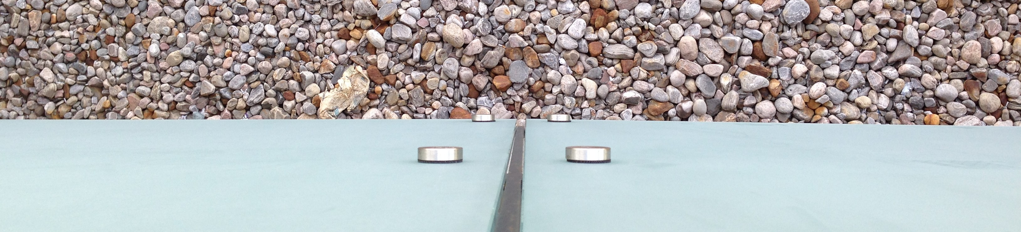 Gravel and glass