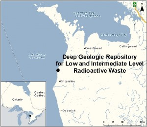 Map of the proposed site (Canadian Environmental Assessment Agency)