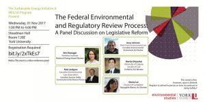 Federal Environmental and Regulatory Review Webinar @ Stedman Lecture Hall 120E, York University | Toronto | Ontario | Canada