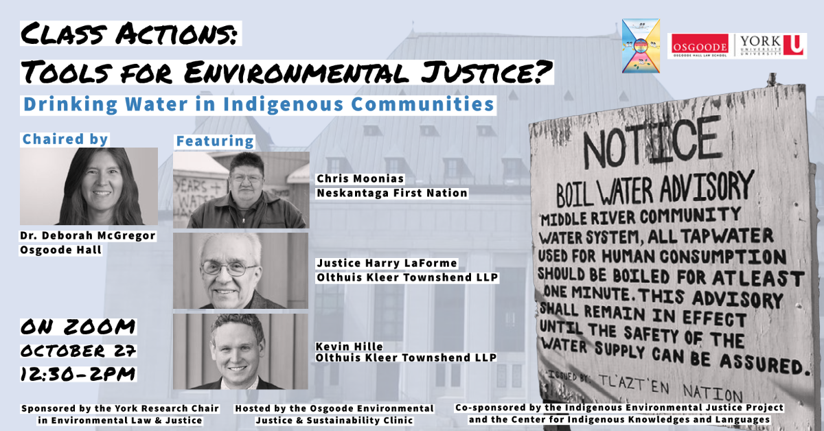 October 27 Event - Class Actions as Tools for Environmental Justice?
